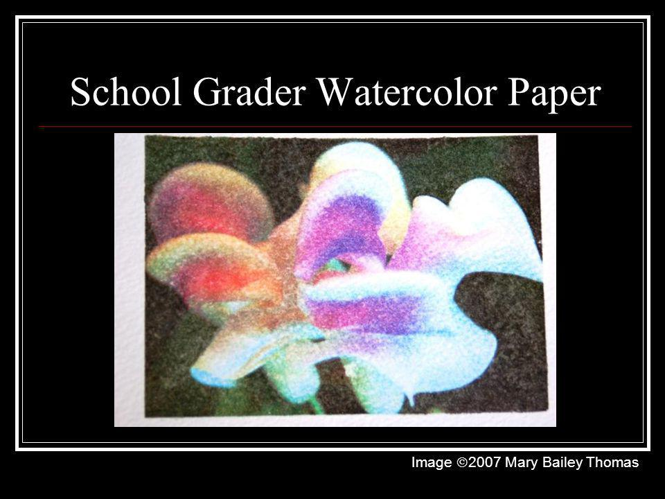 School Grader Watercolor Paper