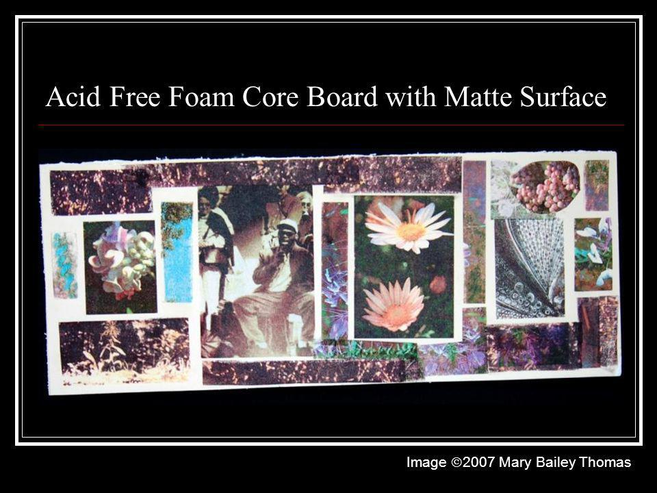 Acid Free Foam Core Board with Matte Surface