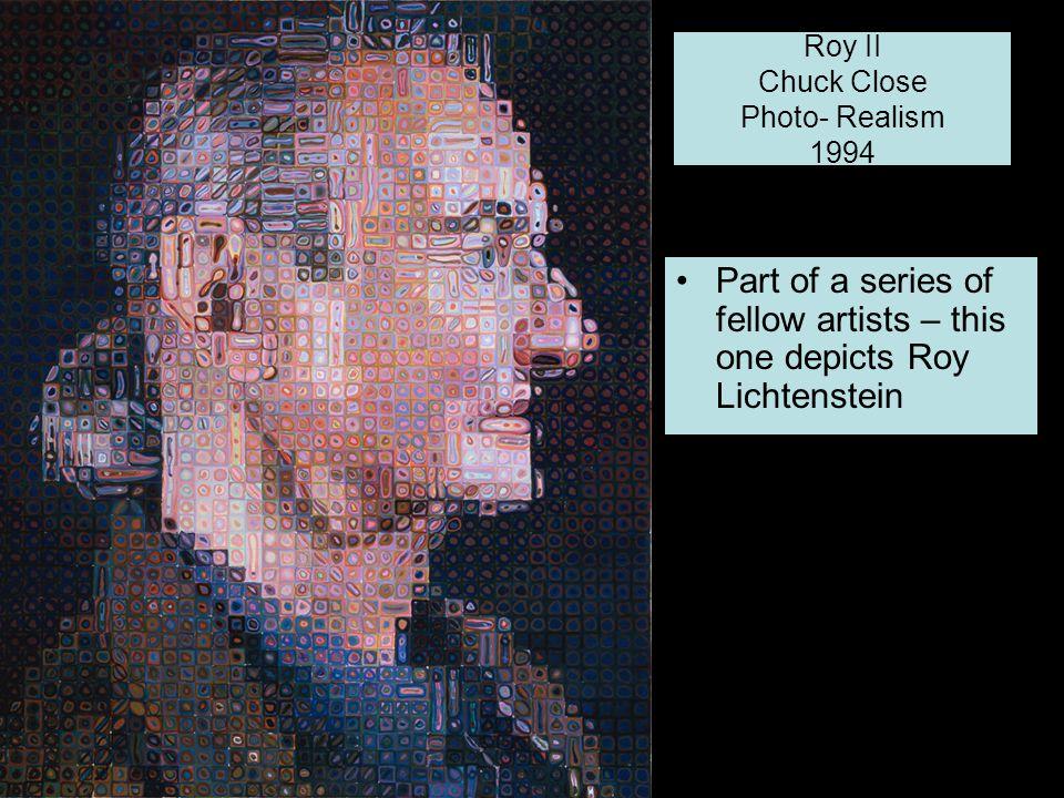 Roy II Chuck Close Photo- Realism 1994