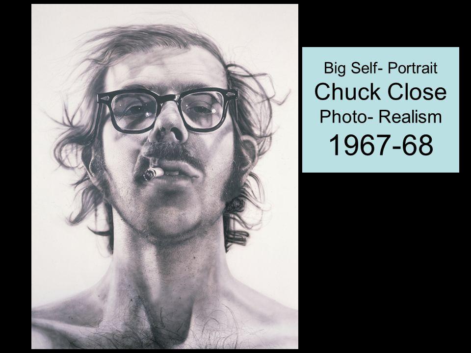 Big Self- Portrait Chuck Close Photo- Realism 1967-68