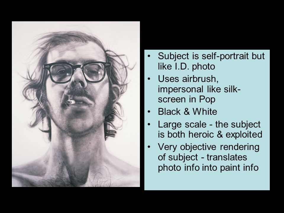 Subject is self-portrait but like I.D. photo