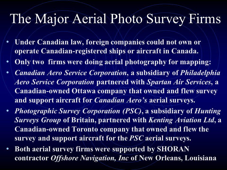 The Major Aerial Photo Survey Firms