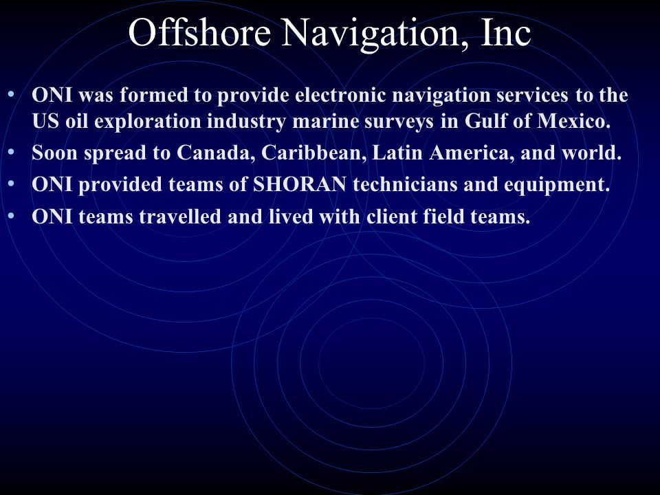 Offshore Navigation, Inc