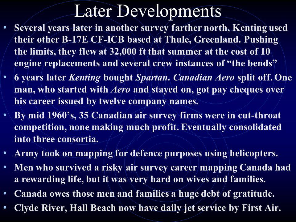 Later Developments