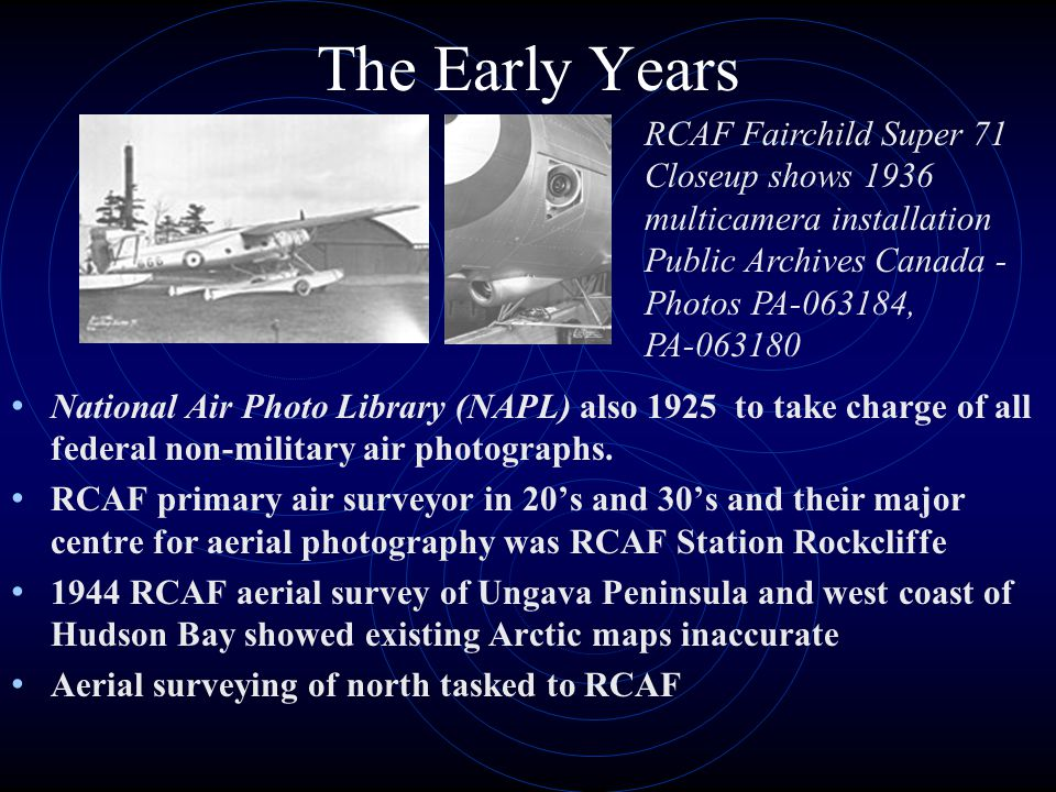 The Early Years RCAF Fairchild Super 71 Closeup shows 1936 multicamera installation Public Archives Canada - Photos PA-063184, PA-063180.