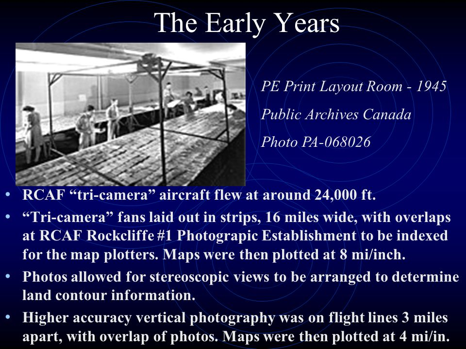 The Early Years PE Print Layout Room - 1945 Public Archives Canada
