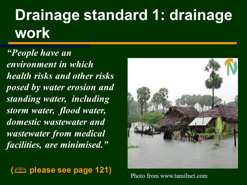Drainage standard 1: drainage work