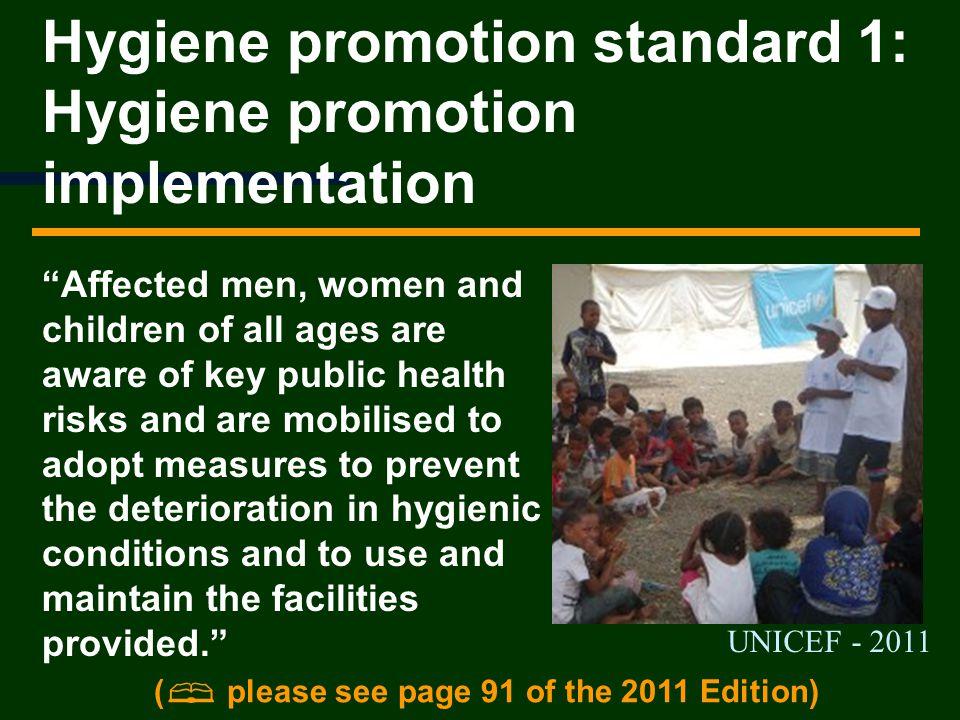 Hygiene promotion standard 1: Hygiene promotion implementation