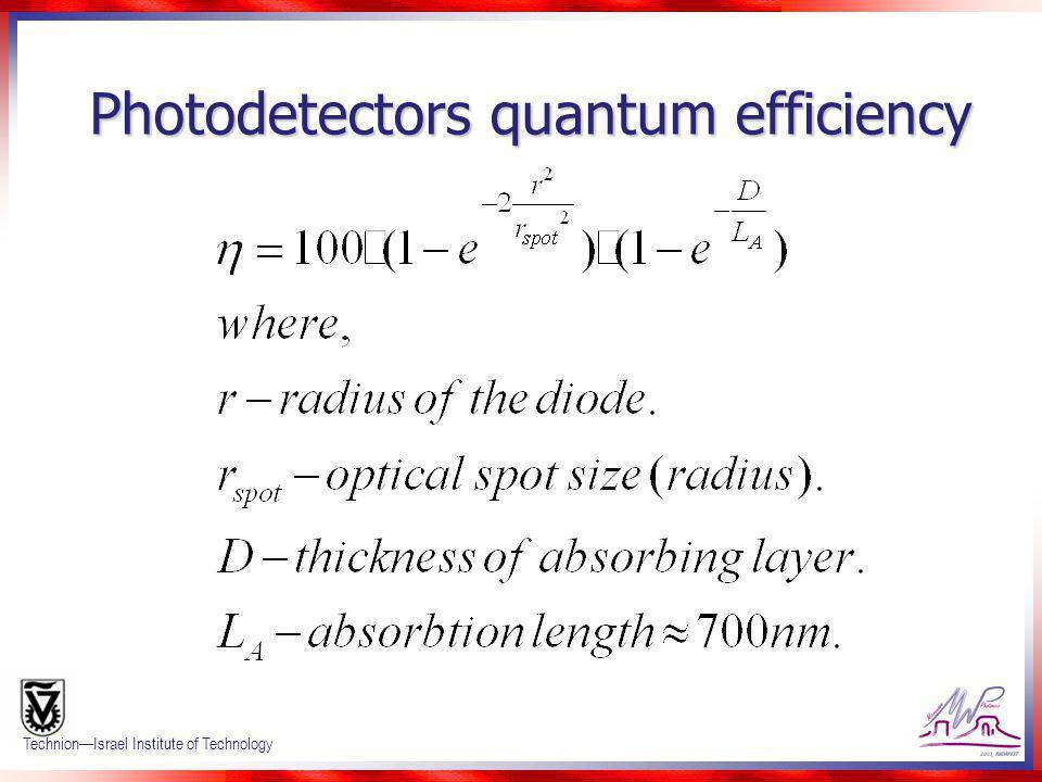 Photodetectors quantum efficiency