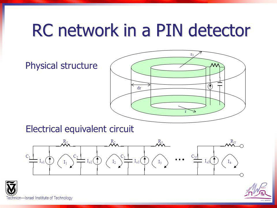 RC network in a PIN detector