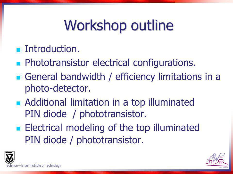 Workshop outline Introduction.