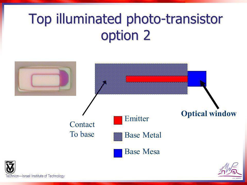 Top illuminated photo-transistor option 2