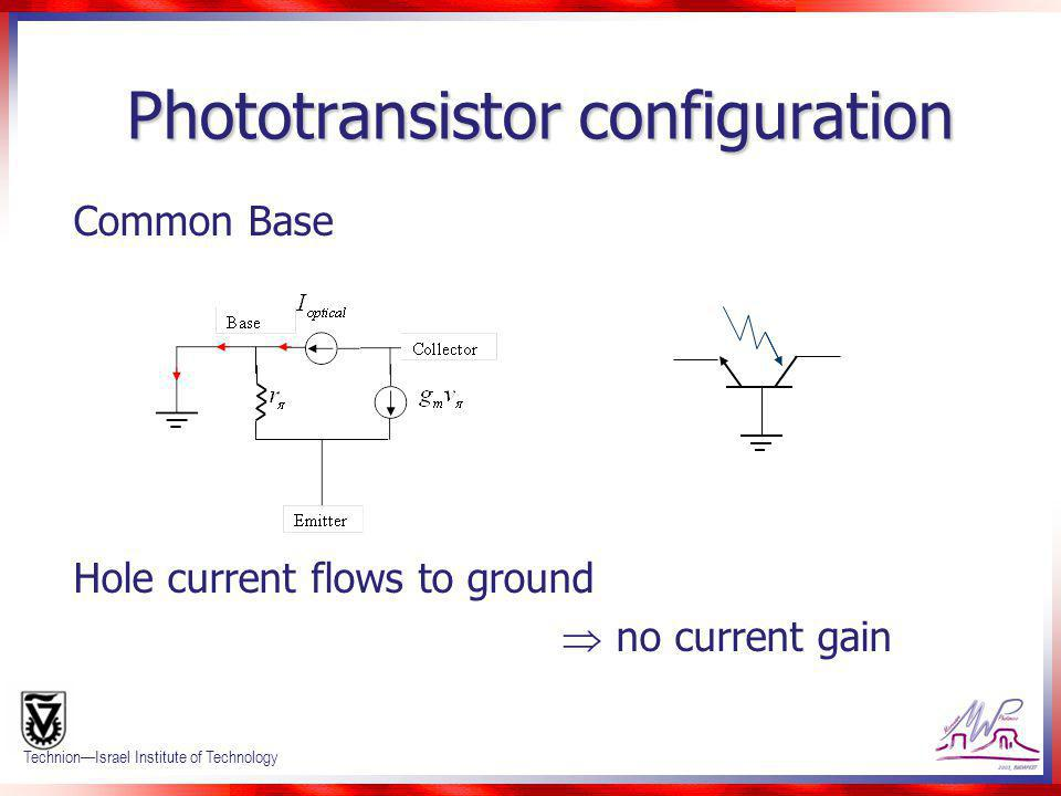 Phototransistor configuration