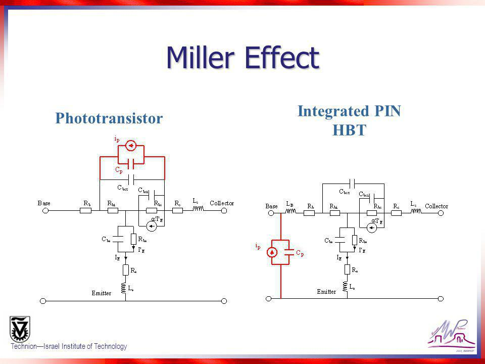 Miller Effect Integrated PIN HBT Phototransistor