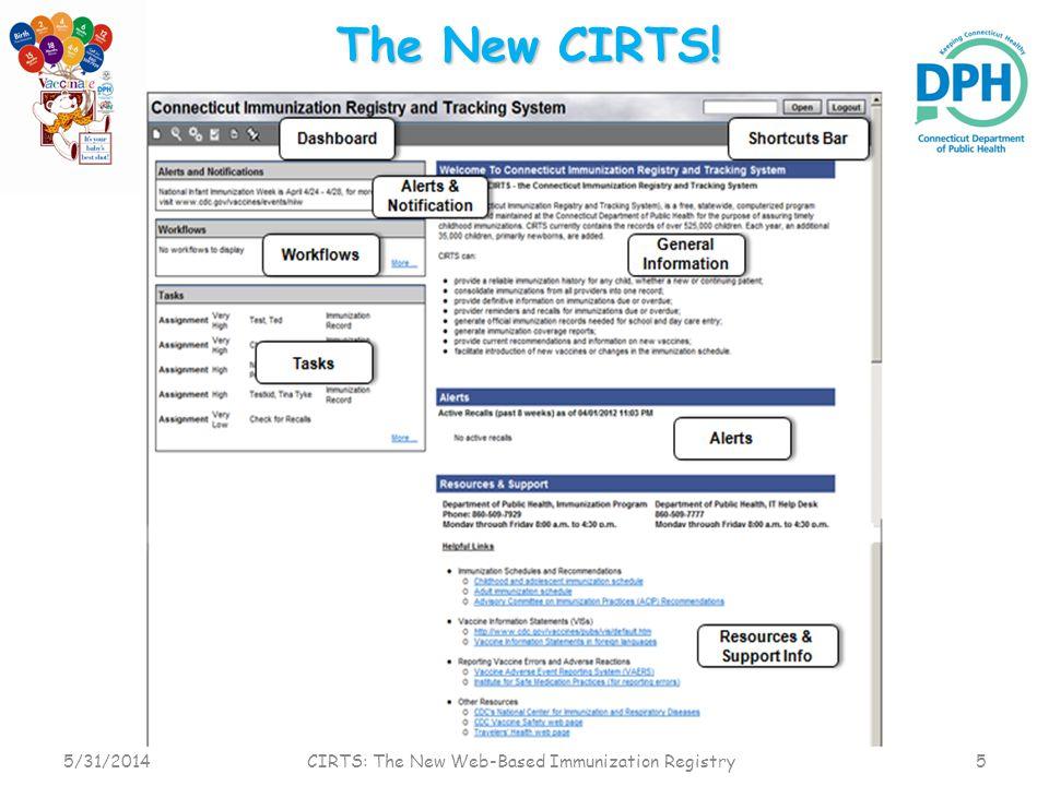 CIRTS: The New Web-Based Immunization Registry