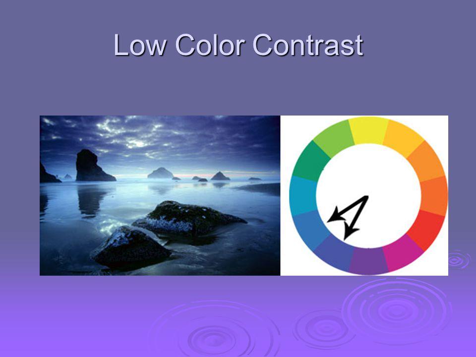 Low Color Contrast
