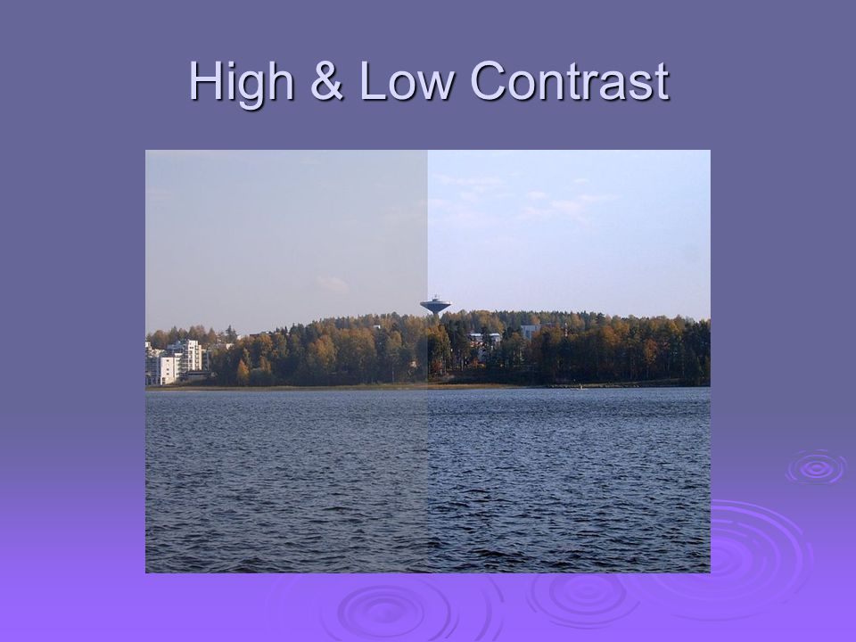 High & Low Contrast