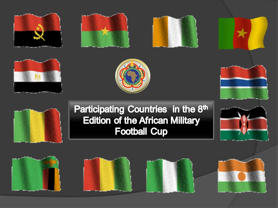 Participating Countries in the 8th Edition of the African Military Football Cup