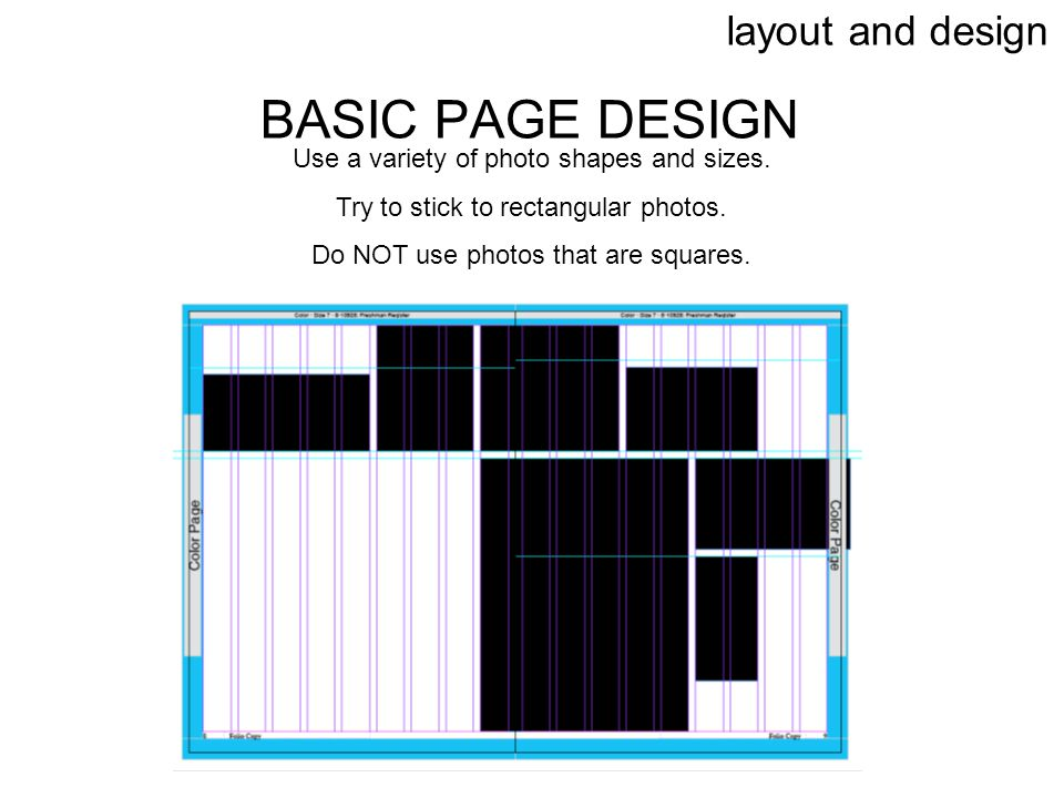 BASIC PAGE DESIGN layout and design