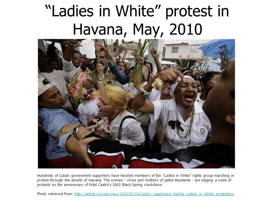 Ladies in White protest in Havana, May, 2010