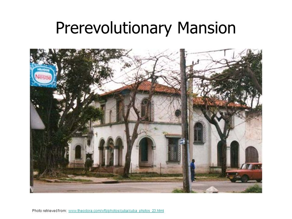Prerevolutionary Mansion