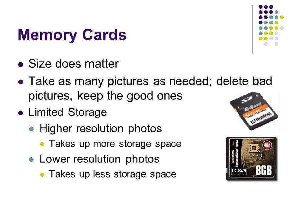Memory Cards Size does matter