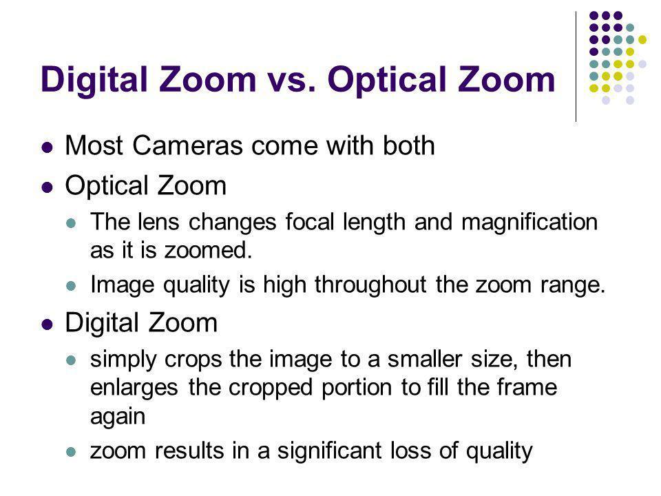 Digital Zoom vs. Optical Zoom