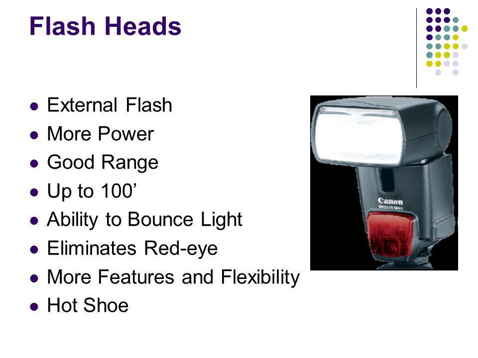 Flash Heads External Flash More Power Good Range Up to 100'