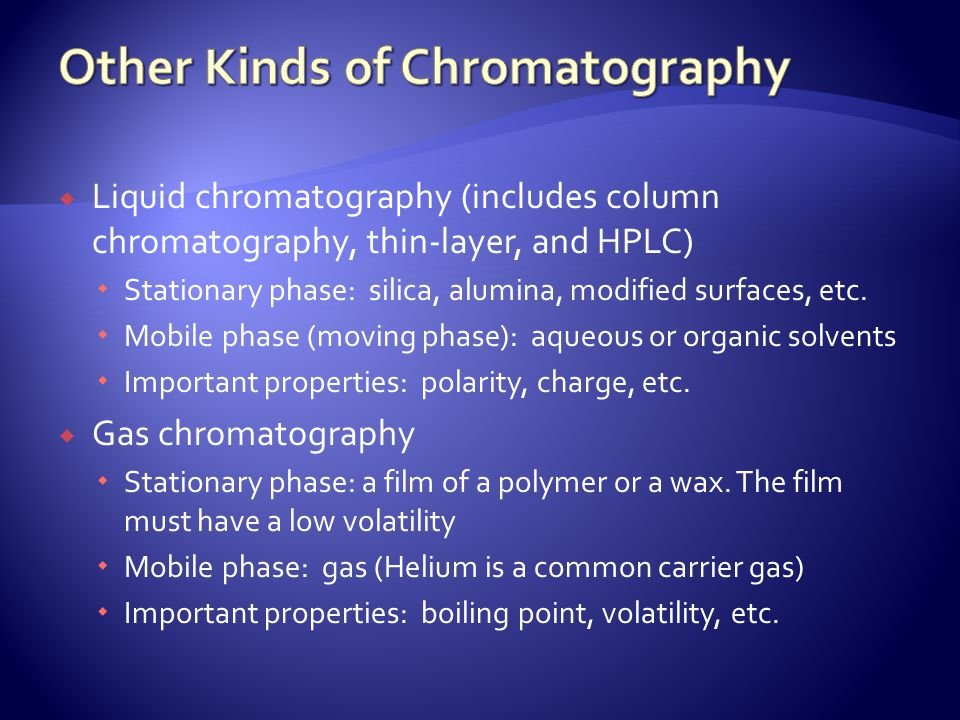 Other Kinds of Chromatography