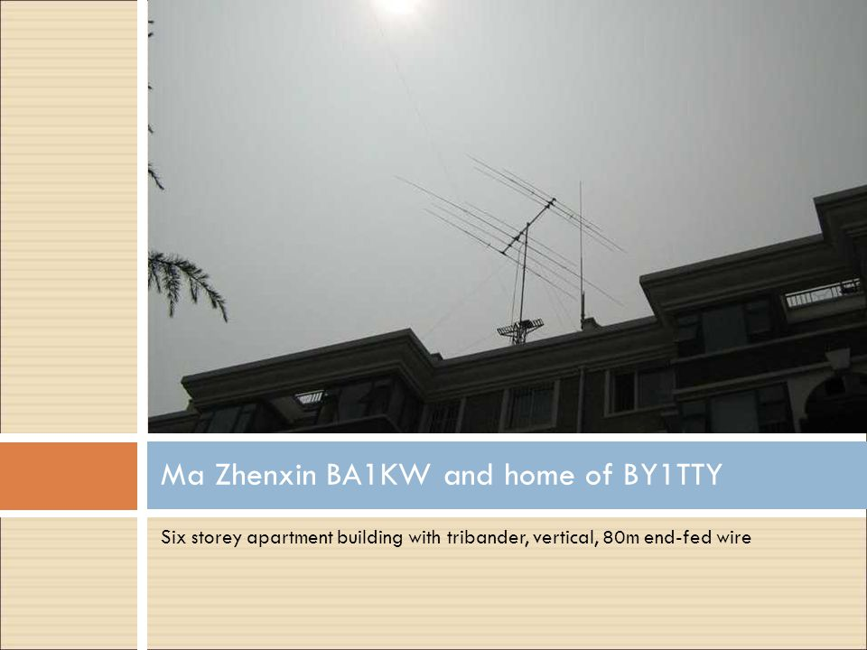 Ma Zhenxin BA1KW and home of BY1TTY