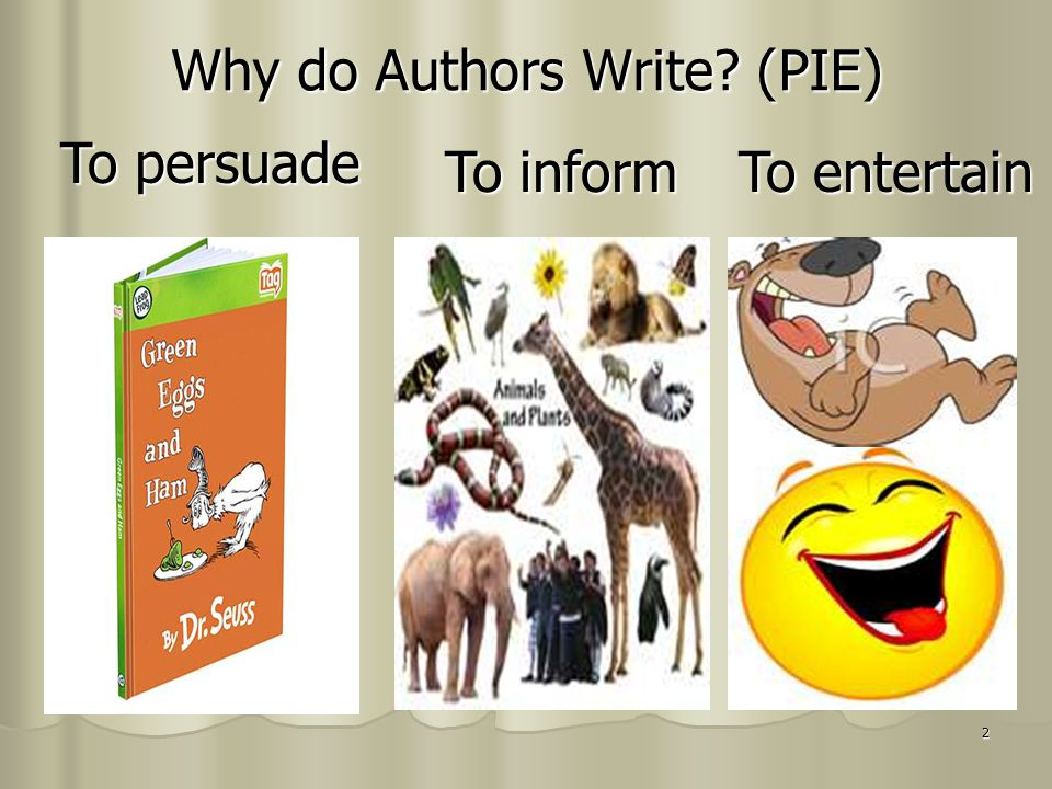Why do Authors Write (PIE)