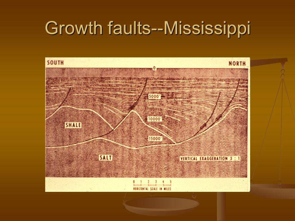 Growth faults--Mississippi