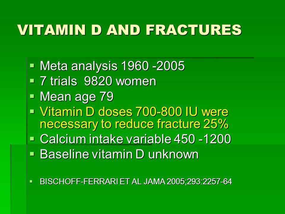 VITAMIN D AND FRACTURES