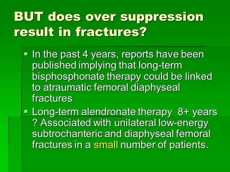 BUT does over suppression result in fractures