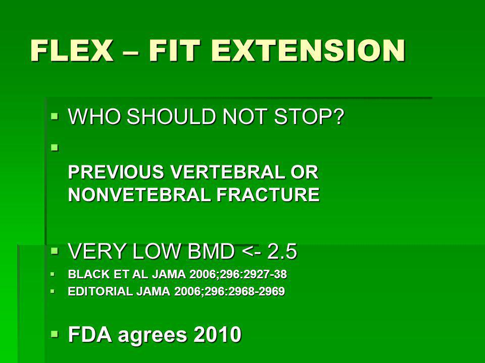 FLEX – FIT EXTENSION WHO SHOULD NOT STOP