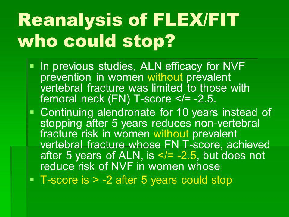 Reanalysis of FLEX/FIT who could stop