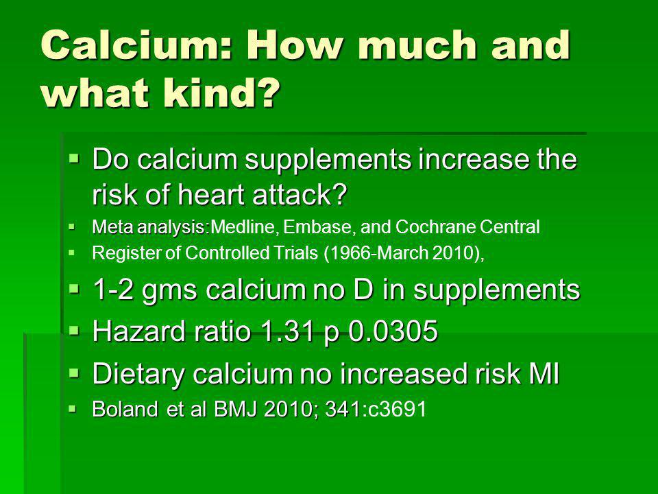Calcium: How much and what kind