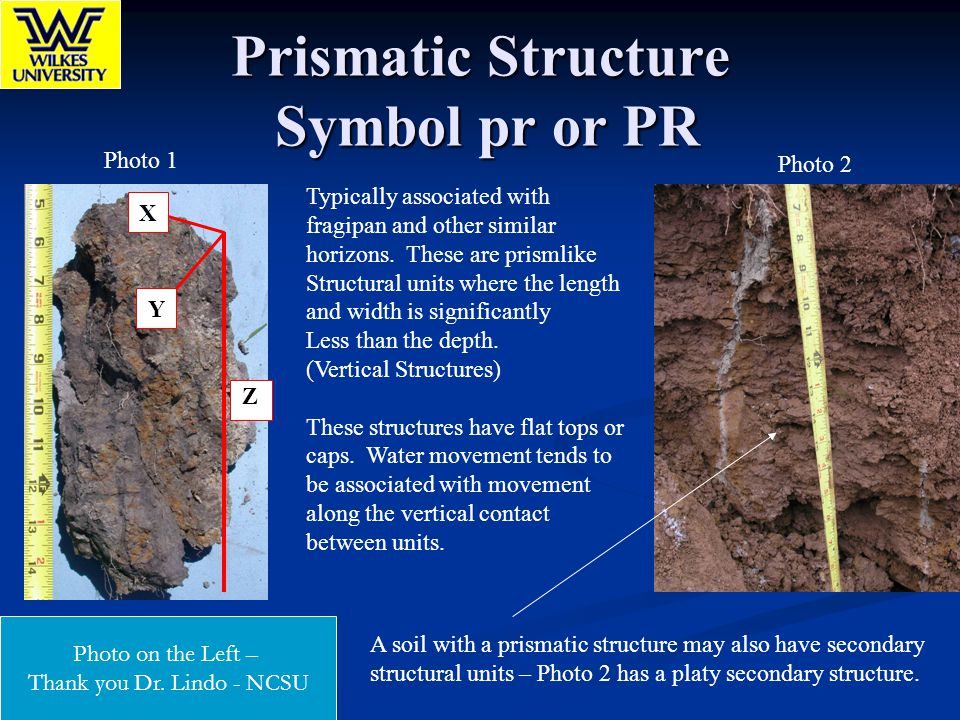 Prismatic Structure Symbol pr or PR