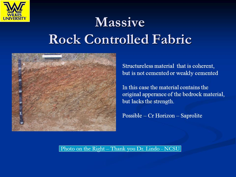 Massive Rock Controlled Fabric