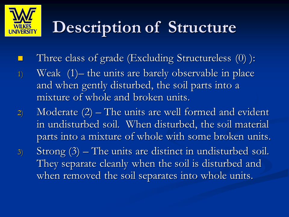 Description of Structure
