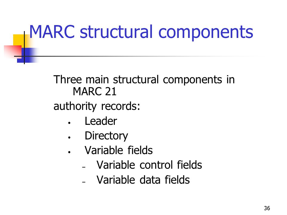 MARC structural components