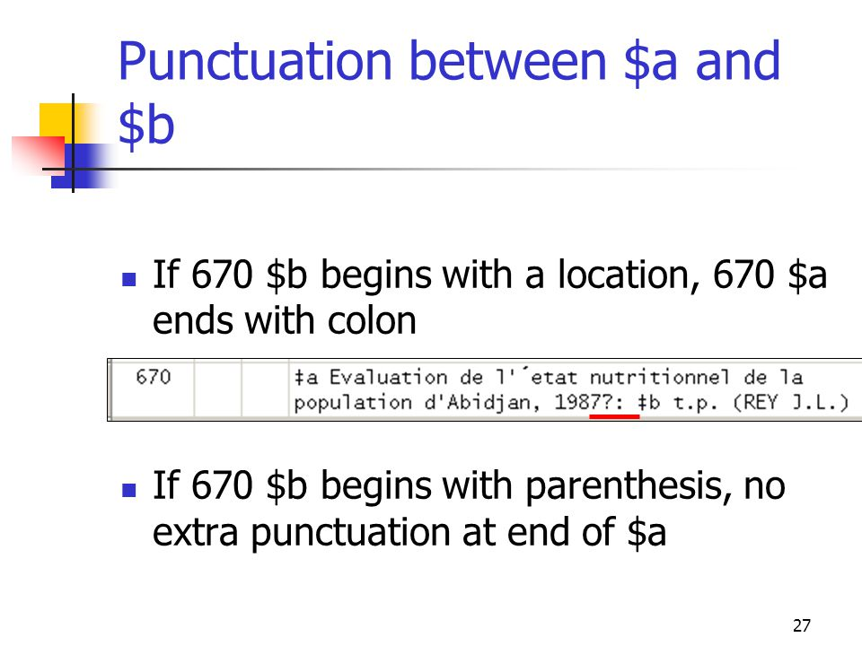 Punctuation between $a and $b