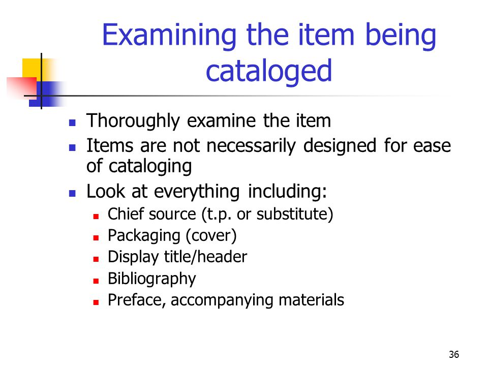 Examining the item being cataloged