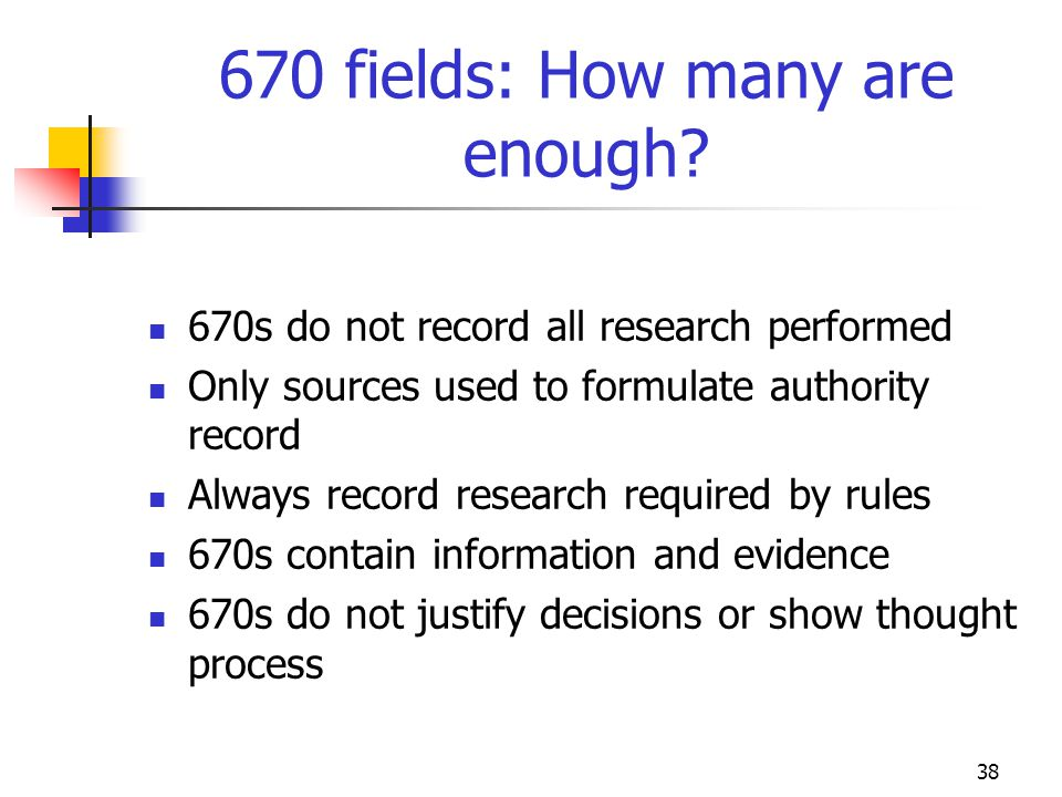 670 fields: How many are enough