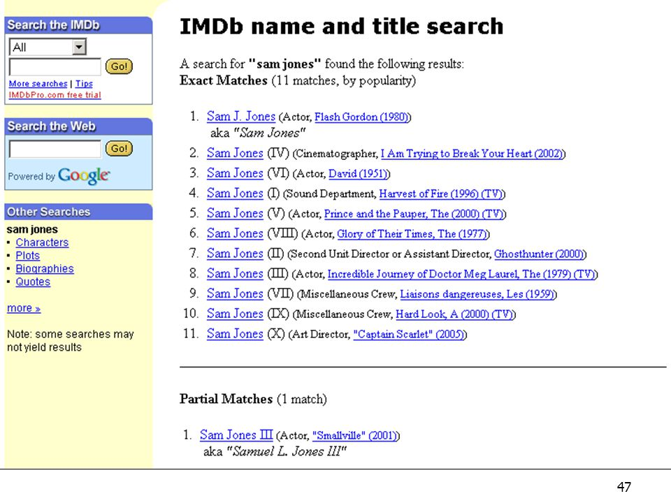 IMDb Optional. Internet movie database: extremely important if cat. videos or DVDs.