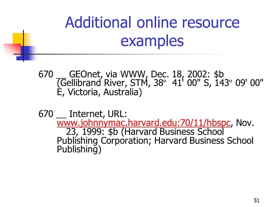 Additional online resource examples