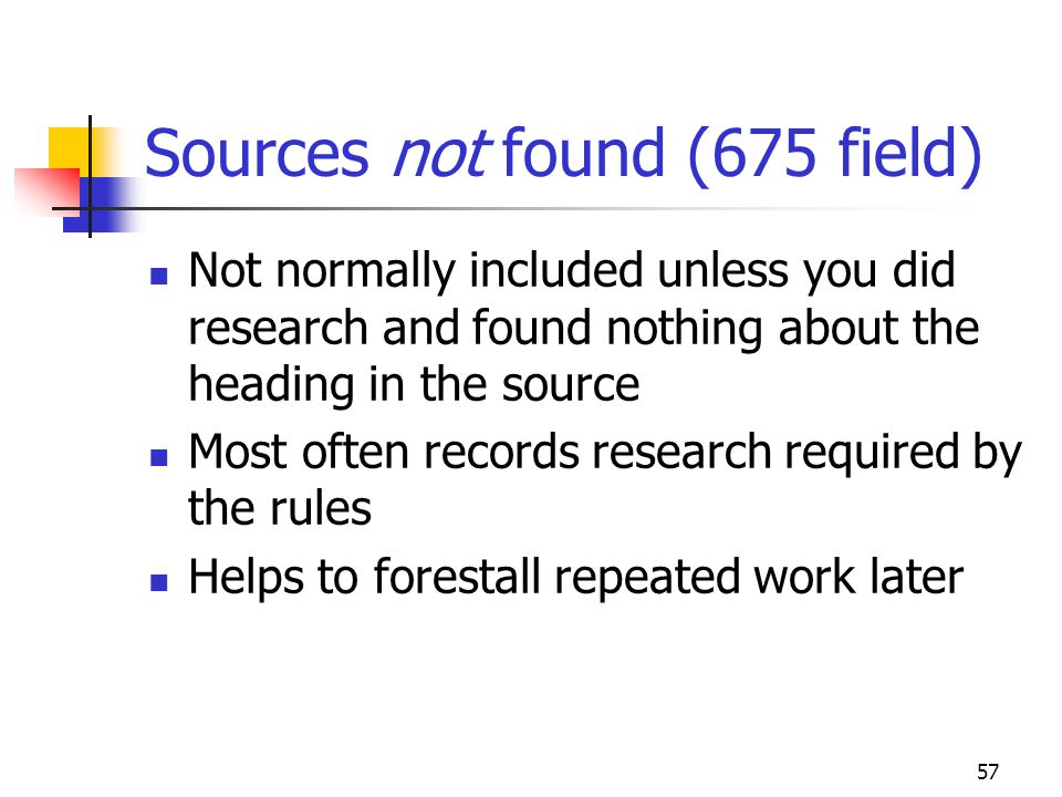 Sources not found (675 field)