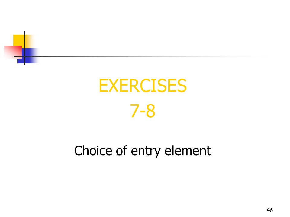 Choice of entry element
