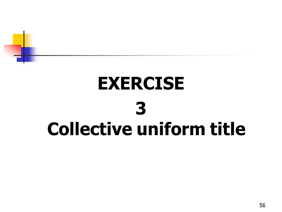 3 Collective uniform title