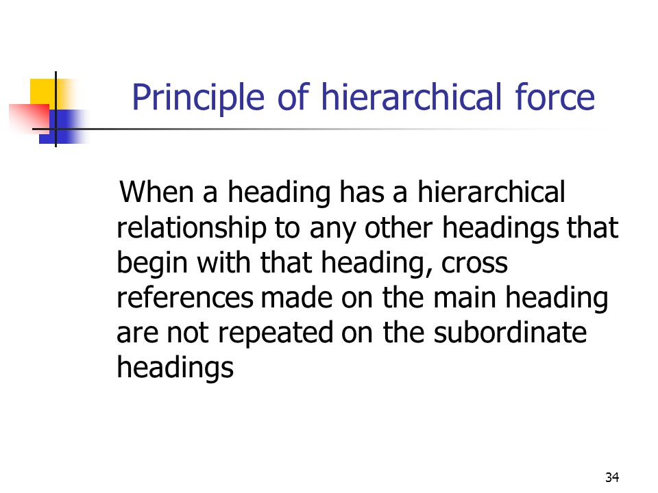 Principle of hierarchical force